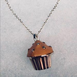 Tiffany & Co. Pink Cupcake Charm with Chain